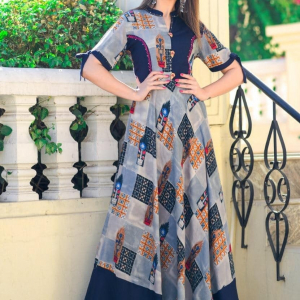 Gorgeous Digital Printed Long Gown