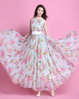 Beautiful Full Body Floral Print Georgette Gown