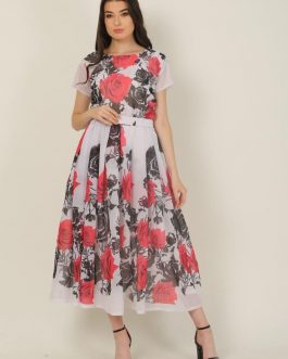 Gorgeous Full Body Floral Print Georgette Gown