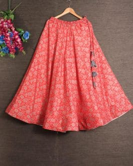Printed Red Cotton R...