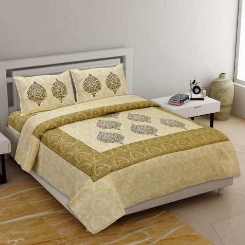Queen Size Brown Colored Cotton Bedsheet