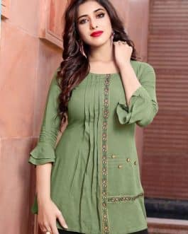 Rayon Tops Olive Color
