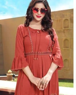 Rayon Tops Red Color