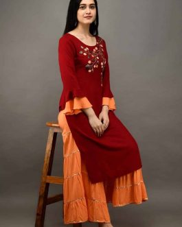 Velly Embroidered Ma...