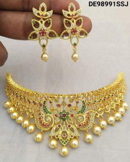 Attractive Gold Plated Choker Necklace
