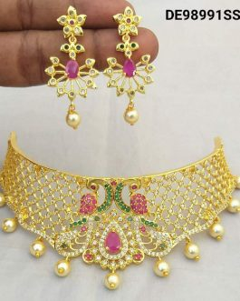 Traditional Gold Plated Choker Necklace