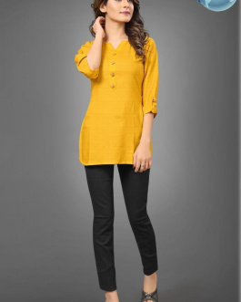 Solid Yellow Rayon Top
