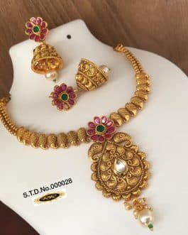 Floral Pearl Brass G...